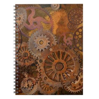 変更のギア- Steampunkのギア及びコグ ノートブック