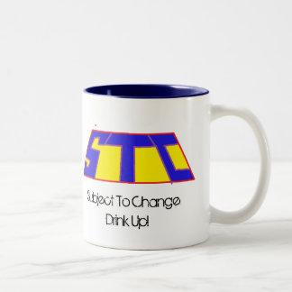 変更の飲み物に応じるSTCのロゴ、! ツートーンマグカップ