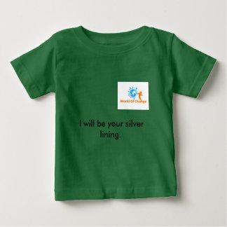 """変更のTシャツ""""明るい兆候""""の世界 ベビーTシャツ"""