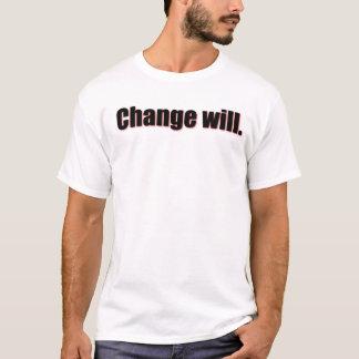 変更は Tシャツ