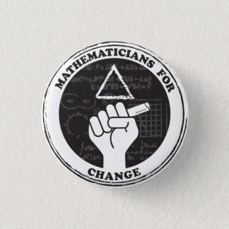 変更ボタンのための数学者 缶バッジ