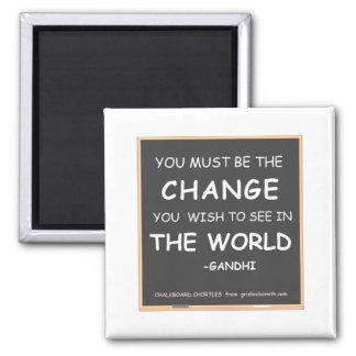 変更世界Gandhi マグネット