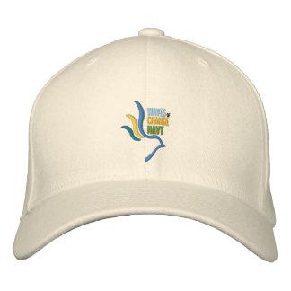 変更海軍野球帽の波 刺繍入りキャップ