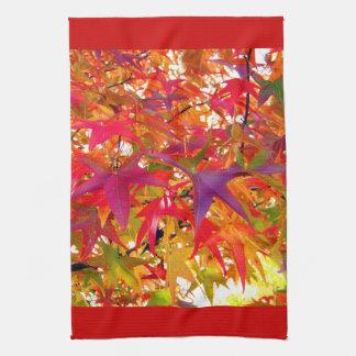 変更色の秋の紅葉の台所タオル キッチンタオル