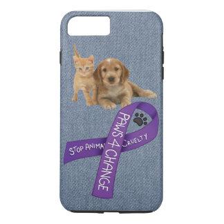 変更、停止動物の残酷のための足 iPhone 8 PLUS/7 PLUSケース