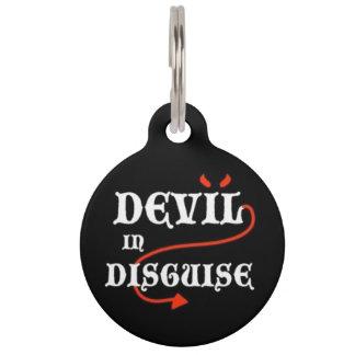 変装のペット用名札の悪魔 ペット ネームタグ