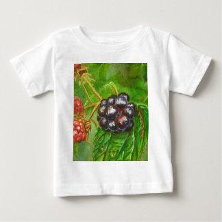 夏に熟す野生のブラックベリー ベビーTシャツ