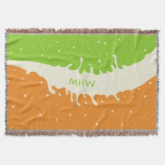 夏のしぶきのカスタムなモノグラムの投球毛布 スローブランケット