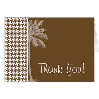 夏のやし; チョコレート色の千鳥格子の カード