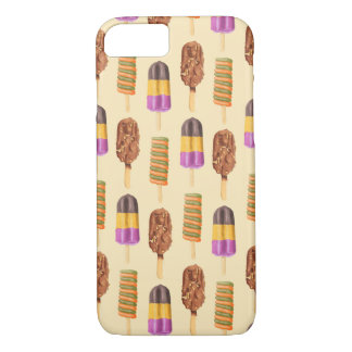夏のアイスクリームはパターンをぽんと鳴らします iPhone 8/7ケース