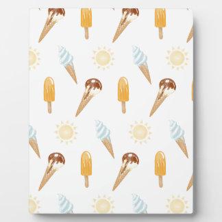 夏のアイスクリーム フォトプラーク