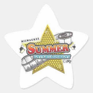 夏のエンターテイメントのキャンプ 星シール