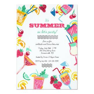 夏のクーラーの招待状 カード