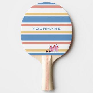 夏のストライプでカスタムな卓球ラケット 卓球ラケット