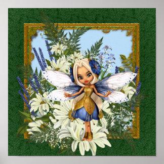 夏のデイジーの青の妖精 ポスター