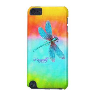 夏のトンボの虹の明るい装飾的 iPod TOUCH 5G ケース