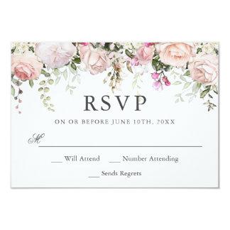 夏のバラ園花の結婚RSVP カード