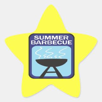 夏のバーベキュー 星シール