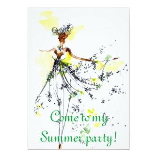夏のパーティの招待状 カード