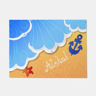 夏のビーチのドア・マット ドアマット