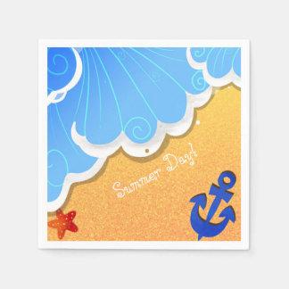 夏のビーチのナプキン スタンダードカクテルナプキン