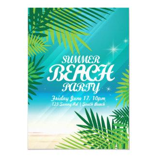 夏のビーチのパーティの招待状 カード