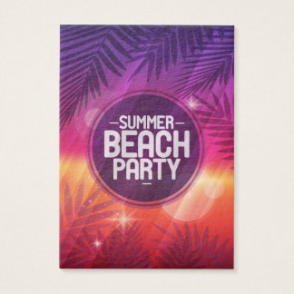 夏のビーチのパーティー夜 名刺