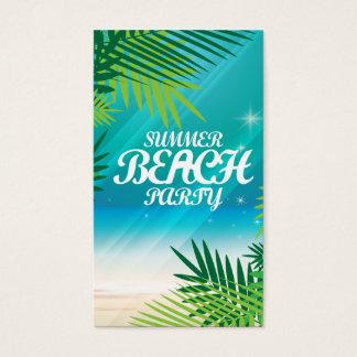 夏のビーチのパーティー 名刺