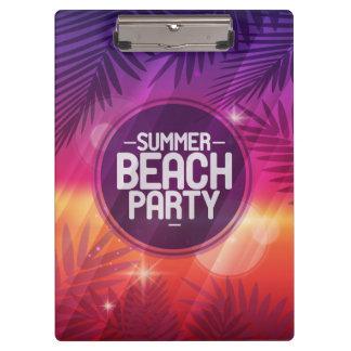 夏のビーチのパーティ夜 クリップボード