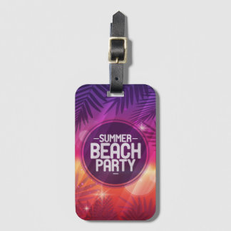 夏のビーチのパーティ夜 ラゲッジタグ