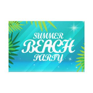 夏のビーチのパーティ キャンバスプリント