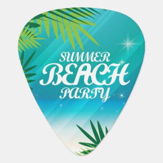 夏のビーチのパーティ ギターピック