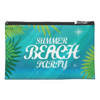 夏のビーチのパーティ トラベルアクセサリーバッグ