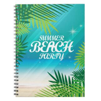 夏のビーチのパーティ ノートブック