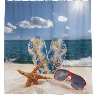 夏のビーチの休暇のシャワー・カーテン シャワーカーテン