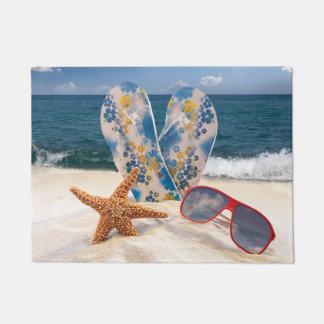 夏のビーチの休暇の玄関マット ドアマット