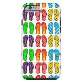 夏のビーチサンダルのおもしろいのビーチのテーマのiPhone6ケース ケース