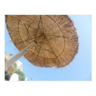 夏のビーチパラソル ポストカード