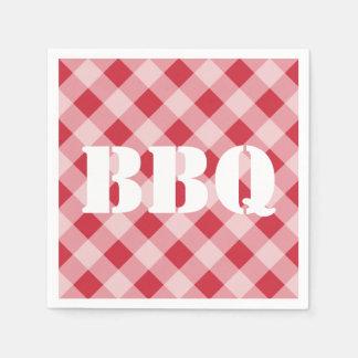 夏のピクニックBBQの赤いギンガムのナプキン スタンダードカクテルナプキン