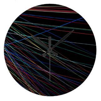 夏のフェスティバルからの糸ライン ラージ壁時計