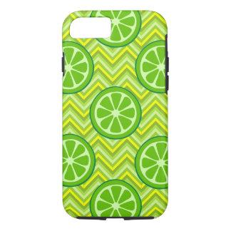 夏のライムグリーンの黄色のシェブロンのiPhone 7の場合 iPhone 8/7ケース