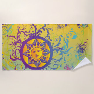 夏の太陽 ビーチタオル