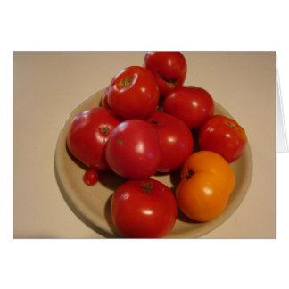 夏の奨励金、トマト及びフルーツ カード
