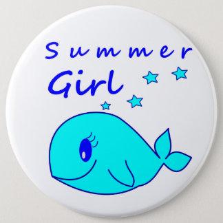 夏の女の子 15.2CM 丸型バッジ