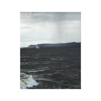 夏の嵐の帆 キャンバスプリント