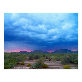 夏の嵐の日没2011年9月12日 ポストカード