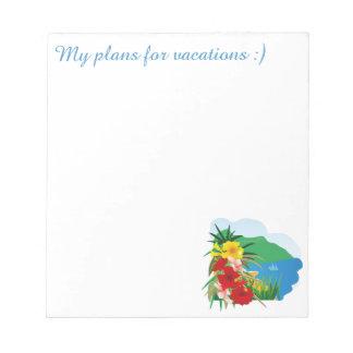 夏の幸せな生命絵 ノートパッド