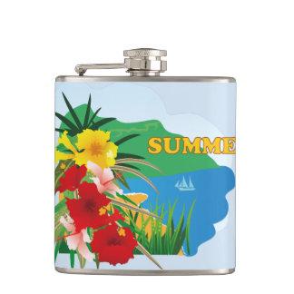 夏の幸せな生命絵 フラスク