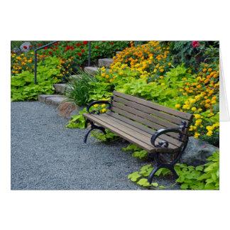 夏の庭のベンチの挨拶状 カード