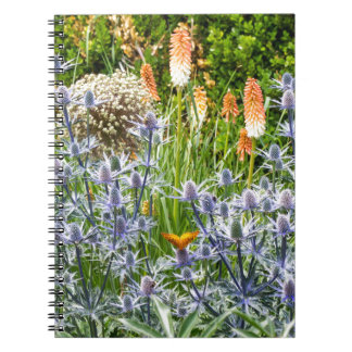 夏の庭のFritillaryの蝶 ノートブック